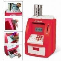 China ATM Bank Toy with Alarm and Calculator Functions, with Paper Currency in Putting Area, Coin Counter on sale
