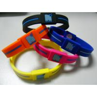 Quality Power Energy Balance Rubber Wristband, Custom Silicone Bracelets For Anniversary for sale