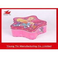 Christmas Star Shaped Candy Gift Tins , Personalized Packaging Tin container Box Manufactures