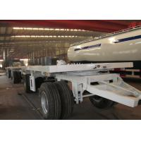 20 ft Double Drawbar Semi Trailer , Shipping Container Flatbed Trailer Manufactures