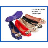Summer low heel ladies fashion PVC sandals high quanlity fancy sandals ASM-M19 Manufactures