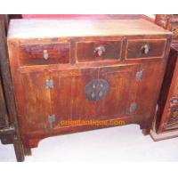 0608-SC009 Shandong Antique Buddha Short Cabinet ( Medium Size 3 Drawer 2 Door Buffet) Manufactures