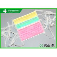 Tie On Ear Loop Non Woven Medical Surgical Masks Dental Salon Nose Mouth Flu Virus Manufactures