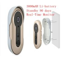 3.6mm Lens WIFI Video Doorbell Real Time Remote Smart Doorphone Build In Battery Manufactures