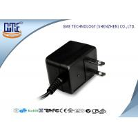 Black CE/GS EU Plug 3-10w Ac Dc Switching Power Supply With 1.5m DC Cable Manufactures