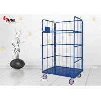 Blue Wire Cage Trolley For Transportation Easy Loading And Unloading Manufactures