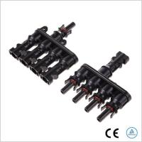 Corrosion Resistant T Branch Connector , MC4 Solar Panel Branch Connector Manufactures
