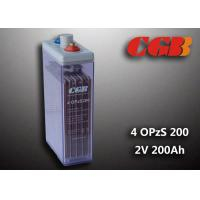 2V 4 OPzS200 Tube Vented ABS Opzs Batteries Solar Energy Storage Application Manufactures
