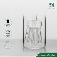 8 Sprinkler Percolator Glass Bongs Accessories Clear Ash Catcher 90 Degree 14.4mm Female Male Manufactures