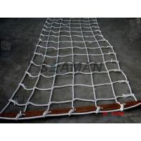 Marine Scrambling Net  Boat Safety Ladder With Wooden Spreaders PE / Nylon Manufactures