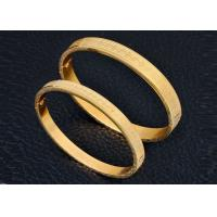 Customized Ladies Stainless Steel Gold Bracelet Magnetic Engraving For Anniversary Manufactures