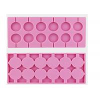 China Durable Pink 12 Cavity Chocolate Candy Molds 100% Food Grade on sale