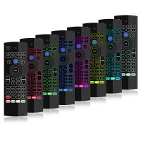Voice Remote Tv Box Air Mouse , Fly Mouse Remote Control Double Keyboard Manufactures