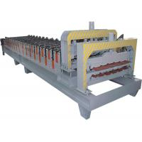 Roofing Sheet Double Layer Roll Forming Machine With Galvanized Steel And PPGI