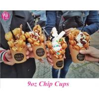 Disposable French Fries Custom Printed Paper Cups for Chips and Ice Cream Manufactures