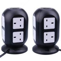 British Standard 4 USB Table Hub Smart Socket Eight Hole ABS + PC Fireproof Material Manufactures