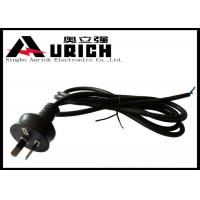 Australia Two Prong Electric Dryer Power Cord SAA Approved 7.5A 250V Black Manufactures