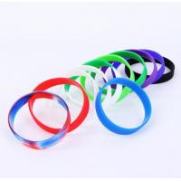 Presents Silicone Rubber Bracelets , Personalised Silicone Wristbands Elastic Manufactures