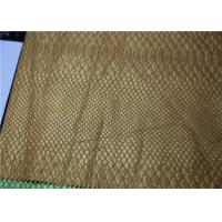 China Pearlied Gold Fake Leather Fabric Classic Snake Skin Pattern Fire - Retardant on sale