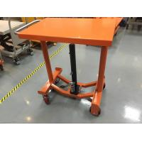 China Foot Operated Hydraulic Post Lift Table 635 Mm Lowest Height For Heavy Duty Shop on sale