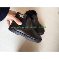 Wholesale Cheap China Low Price 7000 pairs Genuine Leather Kids Shoes Boot Stock Manufactures