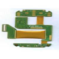FR4 + PI 4 Layer Rigid Flexible PCB ENIG Finish Green Masking White Lengend Manufactures