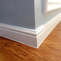100mm New 3D Decor Material WPC White Skirting board Moulding PVC Foam Skirting Board,skirting board profiles Manufactures