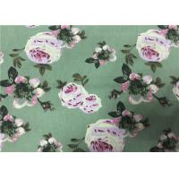 Floral Printing Cotton Drill Fabric , Cotton Floral Fabric  For Women Dress Manufactures