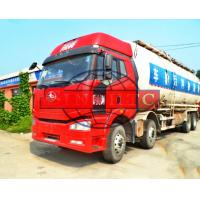 China FAW J6 Cabin 8x4 Dry Bulk Cement Powder Truck , 40 Cubic Tanker Dry Cement Truck on sale