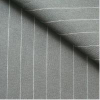 China poly/rayon weft stretch solid twill stripe woven dyed fabric on sale