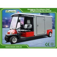RED 48V 2 seater Electric Ambulance Car / Club Emergency Golf Carts Manufactures