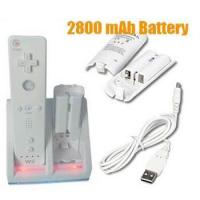 China DC 5V Nintendo Wii Remote Controller With USB Cable, 2800mAH Rechargeable Battery on sale