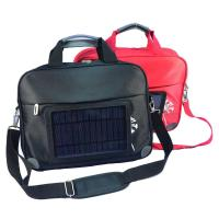 Waterproof  Nylon Laptop Solar Charging Backpack With USB Battery Backup Manufactures