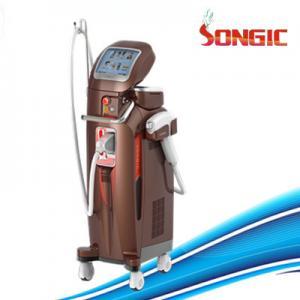 Vertical brown color 600w 808nm Diode Laser Hair Removal Machine 220V / 230V / 110V Manufactures