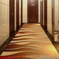 Quality 4m Width Golden Hotel Corridor Decorative Axminster Carpet For Sales With Low Prices for sale