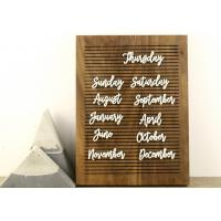 Non Black Felt Menu Letter Board Solid Oak Wooden Message Board with Stand Manufactures