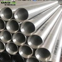 China Wedge Wire Water Well Screen Pipe on sale