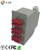 24 Ports Industrial DIN-Rail Fiber Patch Panel with 12pcs ST/PC SM Duplex adapters Manufactures