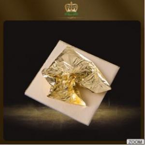 China Hot sale artificial decorative foil paper 89# imitation gold leaf color 2.0(yellowish)14*14Cm on sale