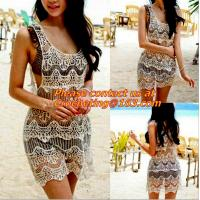 backless Loose Embroidery dress white Blouses tassel Floral Lace Crochet Dresses Retro Manufactures