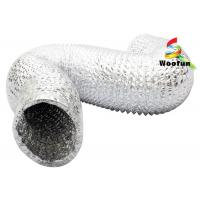 Highly durable flexible design aluminum foil material dryer vent hose ducting Manufactures