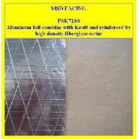 Aluminum foil combine with kraft and reinforced by high for Fiberglass insulation density