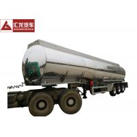 Dot Standard  Mobile Fuel Trailers Mirror Surface Aluminum Alloy Tank Body Manufactures