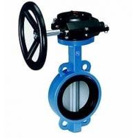 Quality Industrial butterfly wafer valve With Gearbox , PN 10 Bar Hand / Manually for sale
