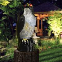 Garden solar  ultrasonic insect repellent hawk style antique electronic pest repeller Manufactures