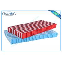 Quality Customized Red and White Color PP Non Woven Fabric For Five Area Pocket Spring for sale