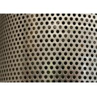 Sliver Galvanized Perforated Metal Mesh ISO9001 Approval 2mm Round Hole Manufactures