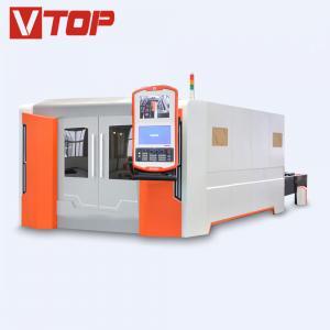 4000w Full Closed Pallet Table CNC Fiber Laser Metal Sheet Cutting Machine Manufactures