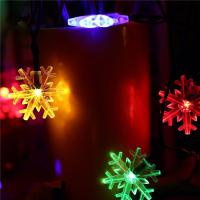 China Snowflake Decorative Led String Lights , Warm Color Solar Led Christmas Tree Light on sale