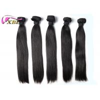 Soft And Smooth Straight Brazilian Virgin Hair Weft Natural Black Without Tangle Manufactures